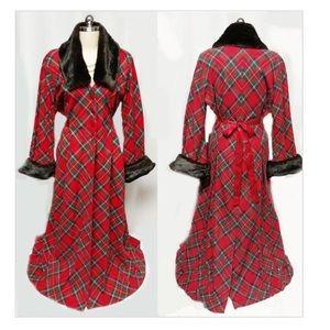 Vintage Victoria's Secret red plaid dressing gown